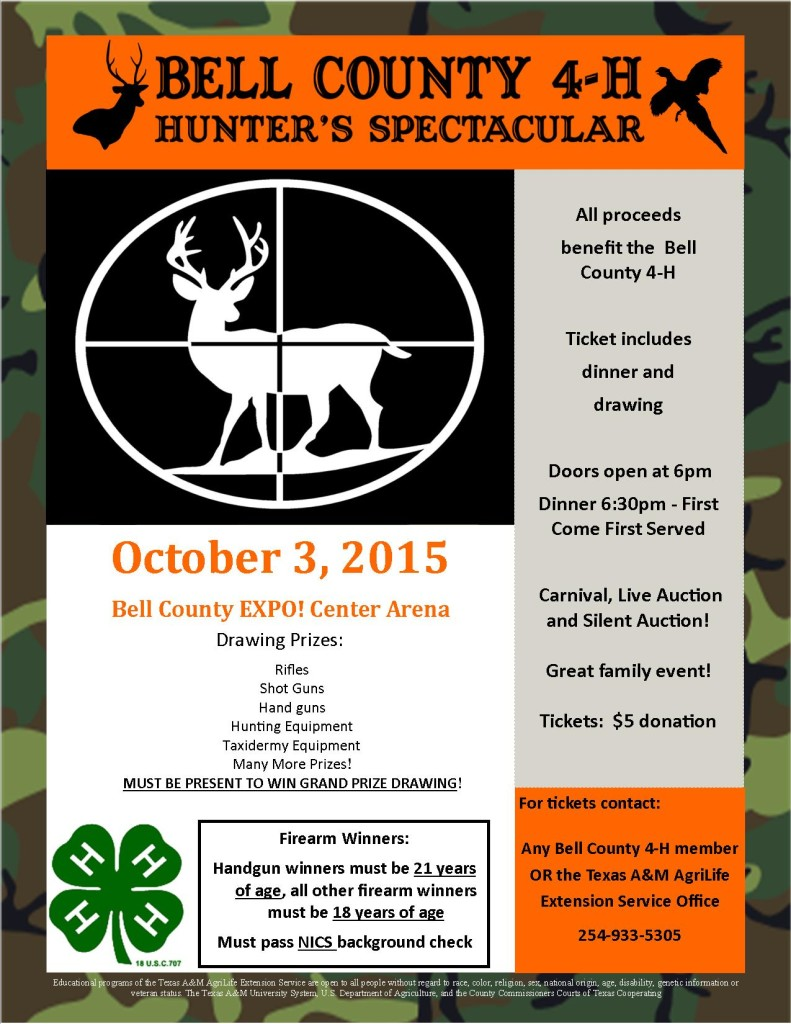 Hunters Spectacular Flyer 2015