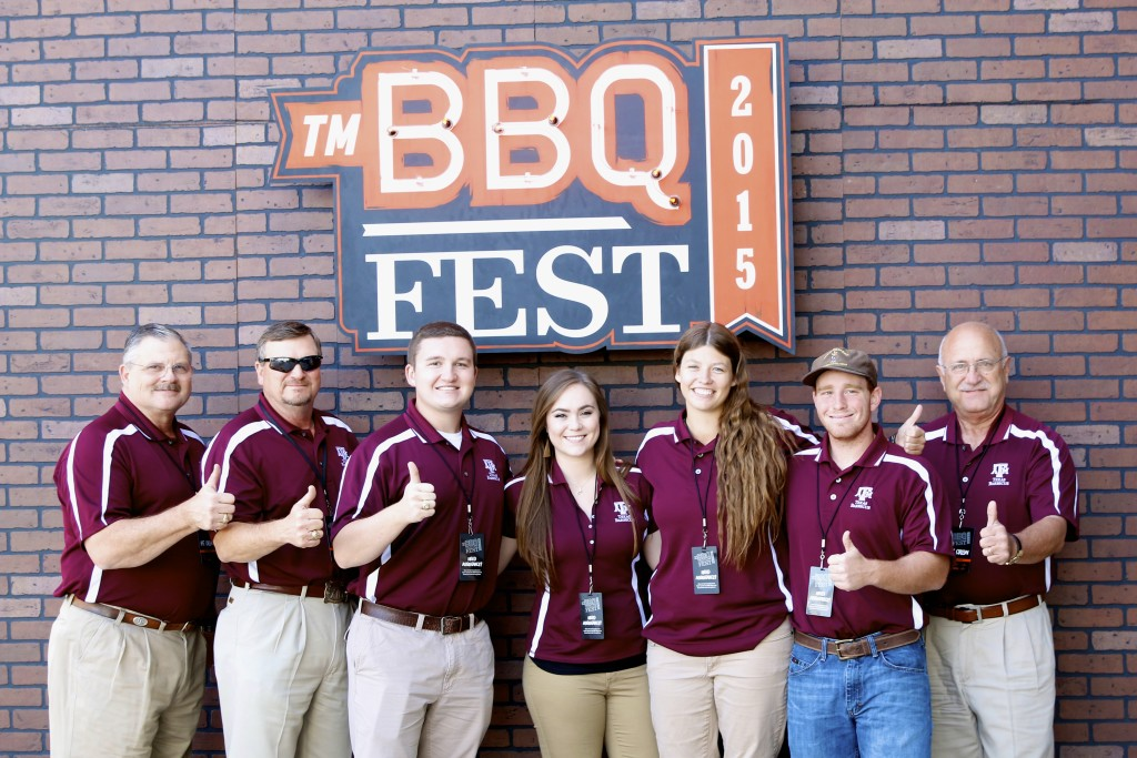 Davey Griffin, Ray Riley, Taylor Rowland, Julia Rauschuber, Jennifer Willis, Marc Vogelsang, and Jeff Savell: TMBBQ FEST 2015