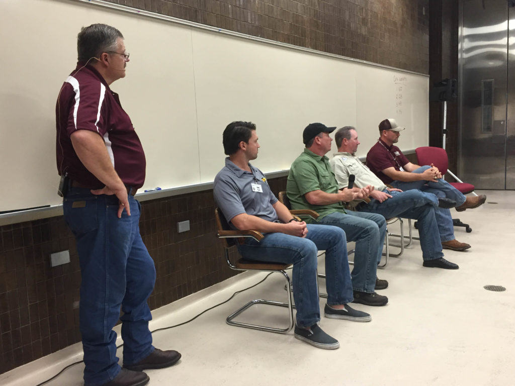 Davey Griffin moderating the Pit Design and Maintenance Panel, Barbecue Summer Camp