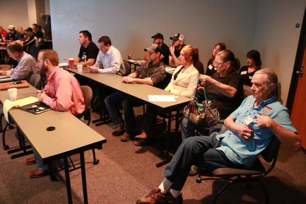 Participants at the Texas Barbecue Town Hall meeting