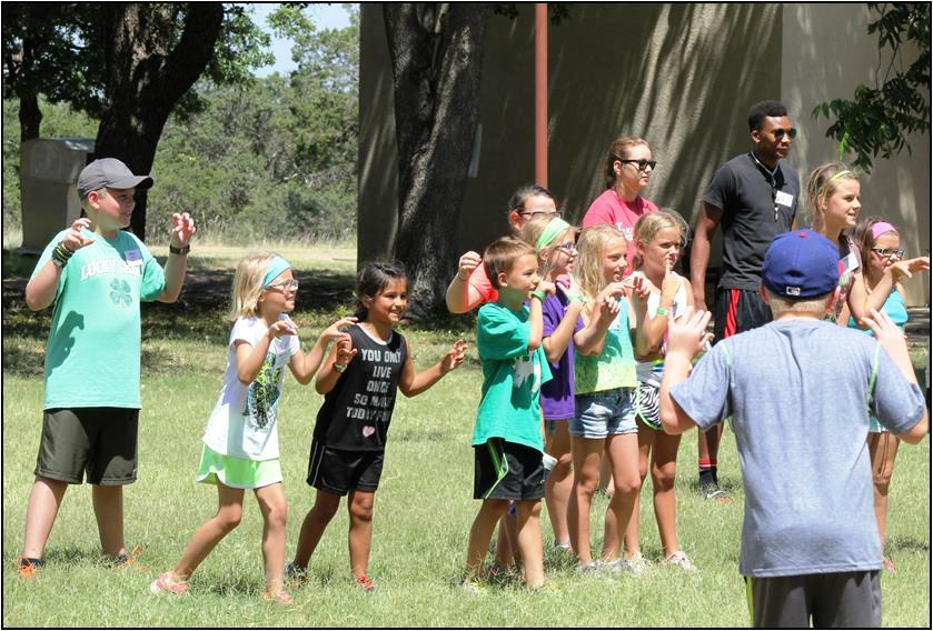 The 4-H Junior Leadership Retreat offers younger 4-H members the opportunity to develop skills and knowledge in different project areas while also having fun. (Texas A&M AgriLife Extension Service photo)